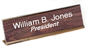 "1"" x 7"" Desk Nameplate with Holder"
