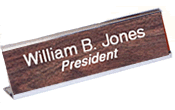 "210DN - 2"" x 10"" Desk Nameplate with Holder"