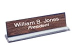 "28AW - 2"" x 8"" Engraved Nameplate on Acrylic or Wood Base"