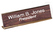 "28DN - 2' x 8"" Desk Nameplate with Holder"