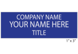 3NT - 3 Line Name Tag with Pin