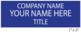3 Line Name Tag with Pin