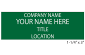 4NT - 4 Line Name Tag with Pin