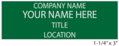 4 Line Name Tag with Pin