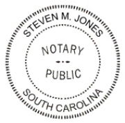 Notary Public Rubber Stamp