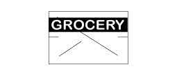 CN-10929 - GX1812 White/Blk Grocery (RC)