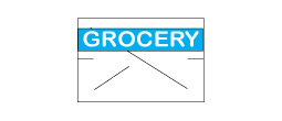CN-10930 - GX1812 White/Blue Grocery (RC)