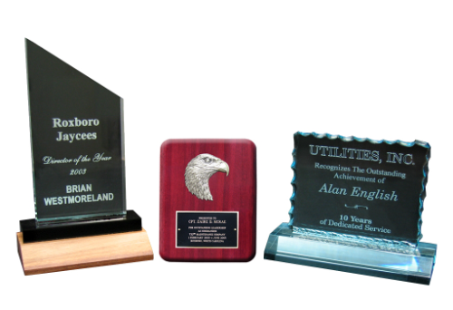 Awards. Plaques and Trophies
